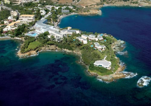 Capsis Elite Resort: Crystal Energy aerial shot