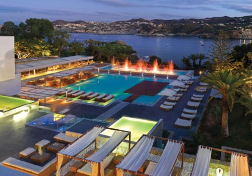 Capsis Elite Resort: Crystal Energy at night