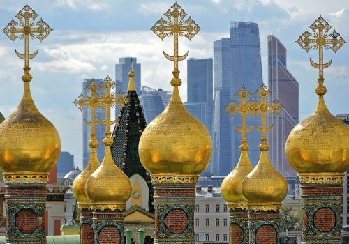 Gold domes Moscow