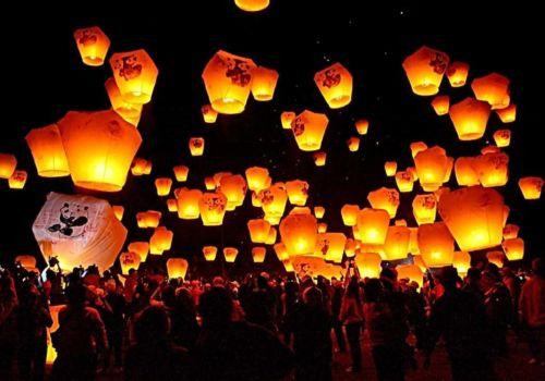 Sky lanterns in Taiwan