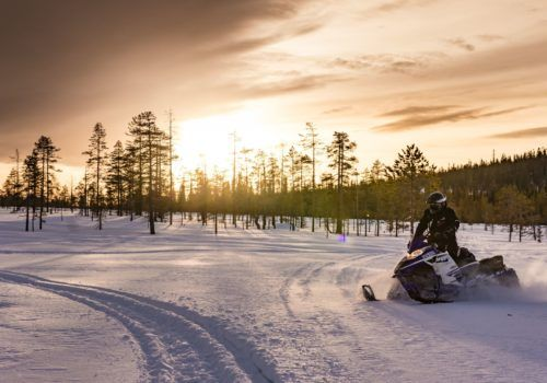 Northern Lights and Snowmobiling Adventure