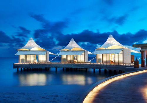 W Retreat And Spa Maldives at night